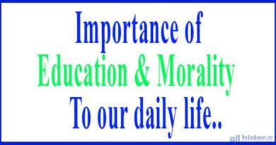 Importance of Education and morality to our daily life