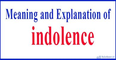 The meaning or definition of indolence and Harmful Effect of Indolence